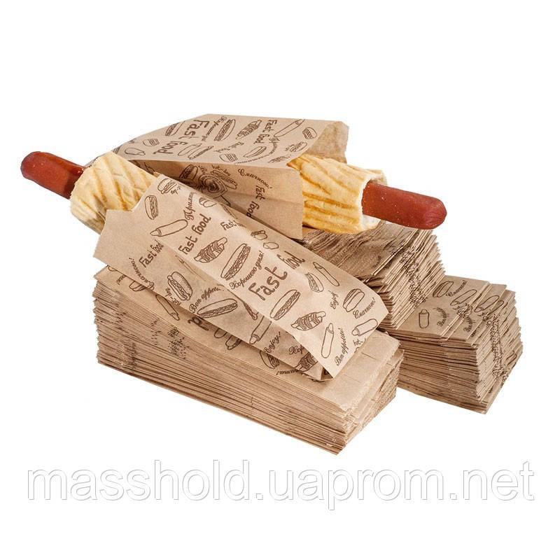 Пакет бумажный для французского хот-дога Кий-В 1069 - МассХолд в Харькове