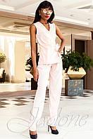 Стильный женский персиковый комбинезон Ариэла  Jadone Fashion 42-50 размеры