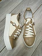 Молодежные кеды, Женские кеды кожаные,Брендовая обувь