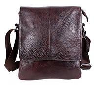 Повседневная мужская сумка-мессенджер из натуральной кожи коричневая