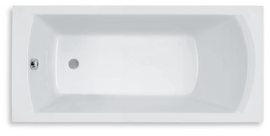 Прямоугольная акриловая ванна Roca Linea 180x80 A24T058000 с ножками - Интернет-магазин сантехники Aquaderus в Одессе