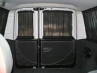 Автомобильные шторы Renault Kangoo с 2008г - Рено Канго черные, фото 1