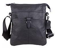 Мужская кожаная сумка-планшетка черная