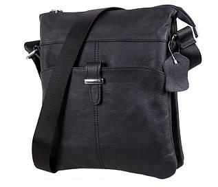 Мужская кожаная сумка-планшетка черная Indigo RT-8139