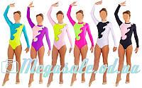 Дитячий купальник гімнастичний для виступів 1405, 6 кольорів: 32-38 розмір,122-152см, фото 1