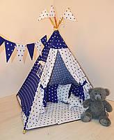 Детский игровой вигвам, палатка, шатер и подушка звезда, фото 1
