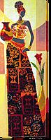 Набор для вышивания бисером на художественном холсте Африка-3
