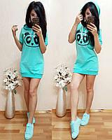 Трикотажное платье Панда. Платья. Магазин одежда. Одежда интернет. Женская одежда.