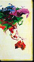 Набор для вышивания бисером на художественном холсте Карта мира-3