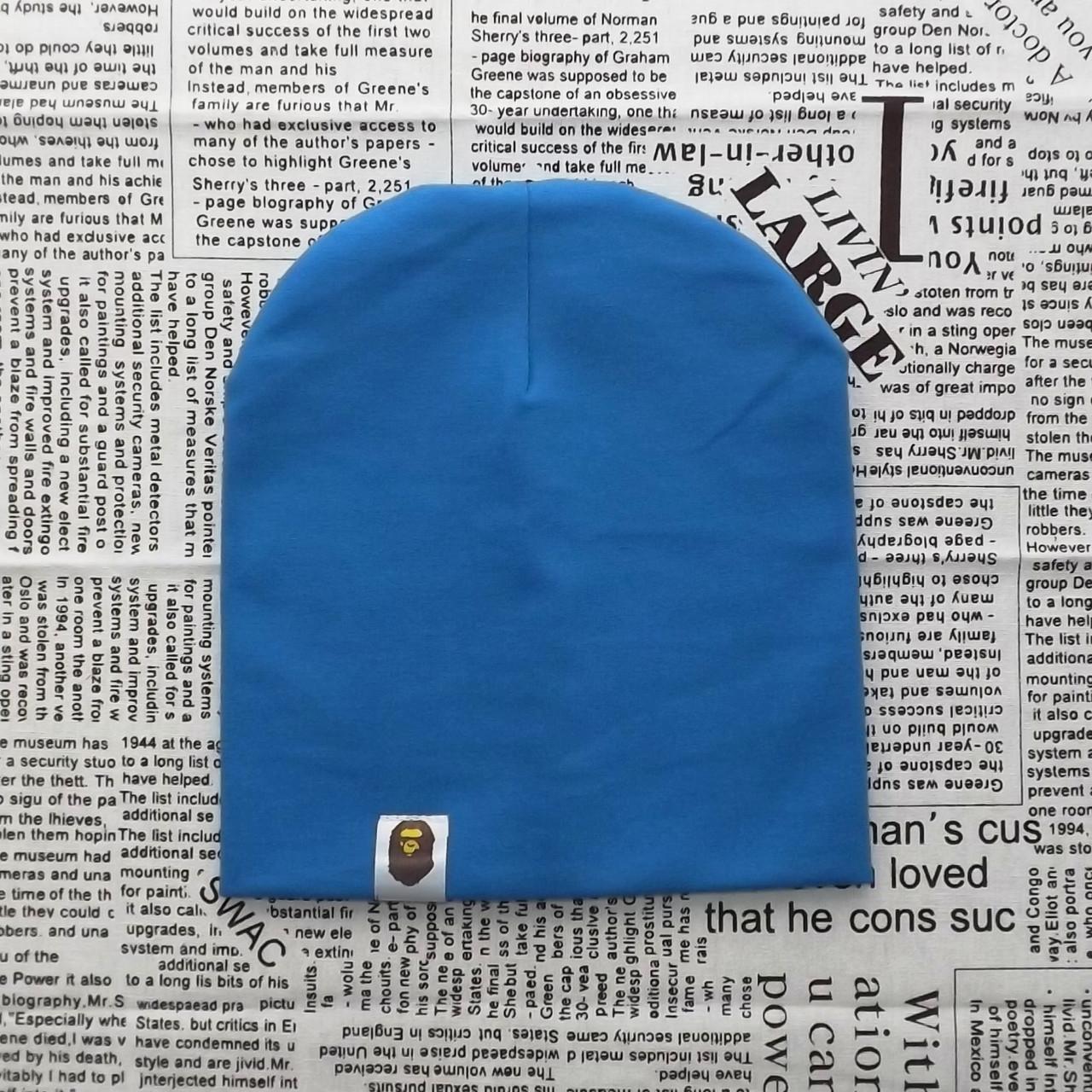 Варе Kids шапка однотонная демисезонная светло-синий  Оптом