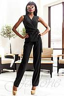 Стильный женский черный комбинезон Ариэла  Jadone Fashion 42-50 размеры