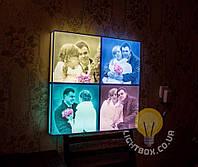 Фотосветильник большой 50х50см - 3D светильник с вашим фото. Оригинальный подарок