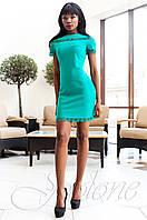 Молодежное женское бирюзовое платье Ранья Jadone Fashion 42-50 размеры