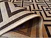 Безворсовый ковер-рогожка коричневый, фото 3
