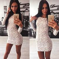 Белое гипюровое платье Layma s-613616