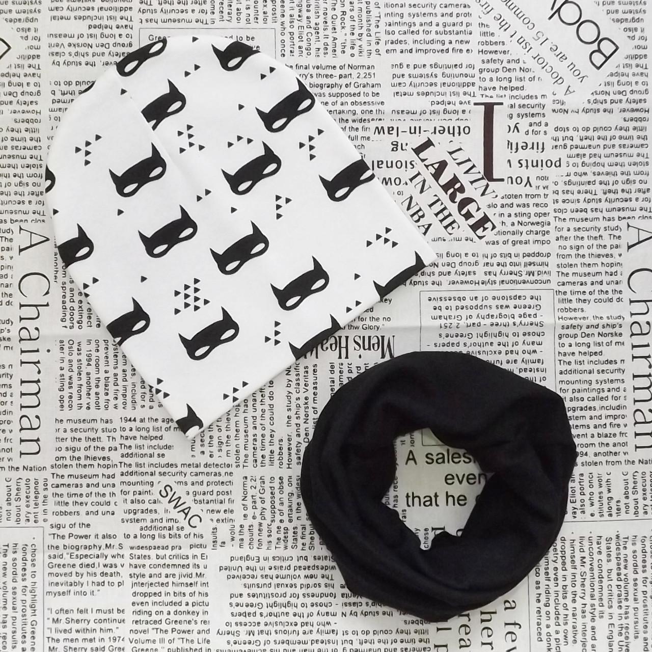 Демисезонный набор: детская шапка  и шарф-хомут  Оптом