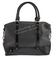 Стильная  вместительная женская сумка саквояж с лаковой вставкой  FORSTMANN art. 89488 серая