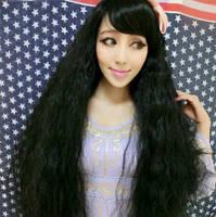 Парик длинный волос черный наличие качество