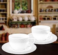 Набор: Чайная чашка 240мл и блюдце 6 пар Wilmax от Юлии Высоцкой WL-880105-JV