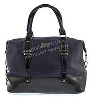 Стильная  вместительная женская сумка саквояж с лаковой вставкой  FORSTMANN art. 89488 синяя