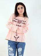 Вышиваная блуза Триумф персик