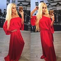 Свободное вечернее платье в пол в расцветках f-613766