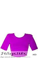 Спортивный топ-футболка фиолет