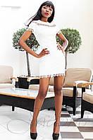 Молодежное женское платье Ранья молоко Jadone Fashion 42-50 размеры