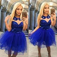 Красивое платье с фатиновой юбкой (в расцветках) h-613935
