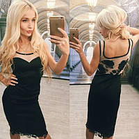 Красивое вечернее платье с кружевом v-613944
