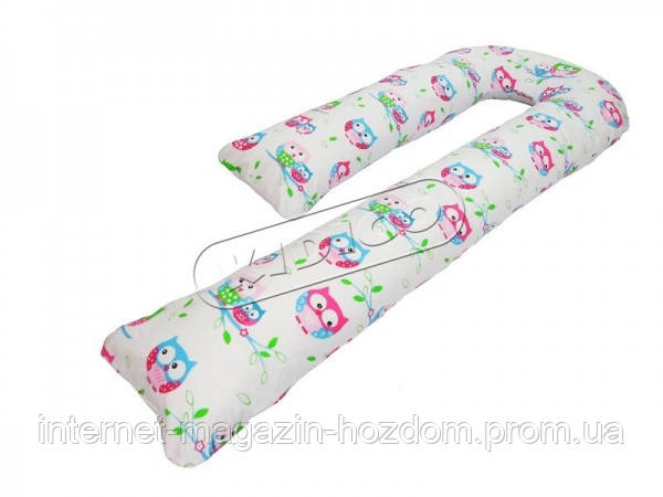 Подушка для беременных KIDIGO J - образная Сова (с наволочкой) - Интернет - магазин Хоз-Дом в Киеве