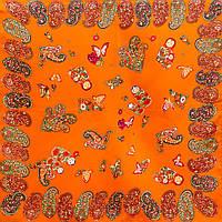 Платок шейный, маленький Codello Лучший корпоративный подарок к праздникам шелковый платок шейный женский CODELLO (КОДЕЛЛО) C270097-orange