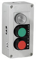 Кнопочный пост JCZ4B2A1 (Лампа+ две кнопки утопл. ON, поворотная OFF)