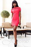 Молодежное женское красное платье Ранья Jadone Fashion 42-50 размеры