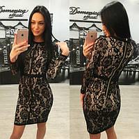 Роскошное гипюровое платье в двух расцветках d-6131216