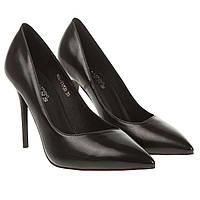 Туфли женские Vensi (черные, на высокой шпильке, классический дизайн, изысканные)