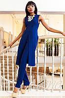 Нарядный женский темно-синий костюм Меркс Jadone Fashion 42-50 размеры
