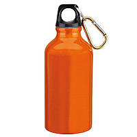 Спортивная бутылка с карабином Оранж, 400мл