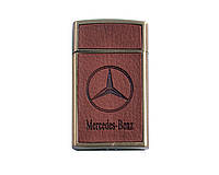 Зажигалка газовая Mercedes-Benz (острое пламя, кожа)