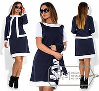 Платье-двойка большого размера с жакетом h-2025232