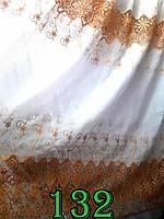 Тюль лен вышивка ришелье