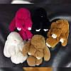 Меховый брелок - кролик из натурального меха 13 см, цвета в ассортименте, фото 2