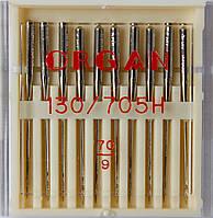 Иглы универсальные машинные №70 Organ Япония, 10 шт.