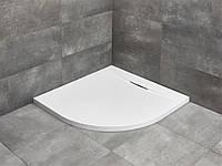 Полукруглый душевой поддон из литого мрамора Radaway Giaros A900 90x90