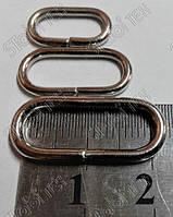 Рамка овал 20х7х2,2мм (никель)