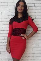 Облегающее платье с кружевными вставками s-1031354