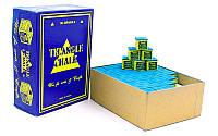 Мел для бильярда (уп. 144шт) TRIANGLE KS-TC144 (синий, цена за 1шт) дубл.