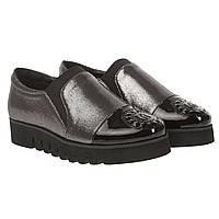 e93af1bf5 Туфли женские Vensi (стильное сочетание черного и серебристого цветов,  удобные, модные)