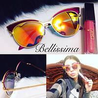 Женские стильные солнцезащитные очки с контрастными линзами -431675