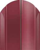 Штакетник тип 1 (115мм) бордовый 1.25м
